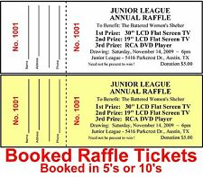 2500 RAFFLE TICKETS~Prize DRAWINGS-Custom Printed BOOKED-STAPLED - Raise Money