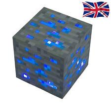 MINECRAFT DIAMOND ORE LIGHT UP NIGHT LIGHT BLUE LIGHT-UP TOY