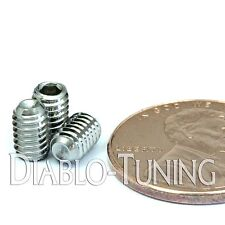 4mm x 0.70 x 6mm - Qty 10 - A2 Stainless Steel DIN 916 CUP Point SET SCREWS - M4