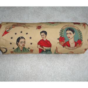 Frida Kahlo Bolster Cover Round Cylinder Cushion 6x16 Todo Para Ti Mexican Art