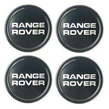 Range Rover Classic Genuine Black Wheel Badge Center Hub Caps Set of 4 NRC8254