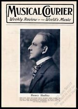 1927 Henry Hadley photo Musical Courier framing cover
