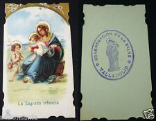 OLD BLESSED THE SACRED CHILDHOOD HOLY CARD WITH CONGREGATION SEAL     CC1207
