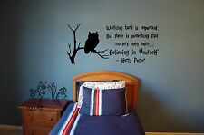 Working hard is important - Harry Potter Vinyl Wall Art Quote Decal