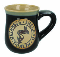 Black Mug Guinness Dublin Toucan Logo Matte Clay Ceramic Mug Glossy Finish Round