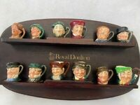 Royal Doulton Complete Original Tiny Character Jug Set (12 Jugs) with Display