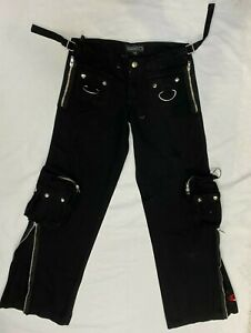 Criminal Damage YOUTHS  Black Trouser with Zips   Gothic EMO