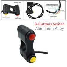 "12V 7/8"" 22mm Motorcycle 3-Buttons Switch Handlebar Headlight Horn ATV Aluminum"
