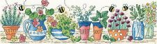 HERITAGE CRAFTS HERB GARDEN COUNTED CROSS STITCH KIT KAREN CARTER COLLECTION