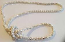 collier sautoir bijou vintage rond tout de petites perles blanches nacrées 319