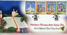 Fiji 2014 FDC Christmas 4v Set Cover Churches Methodist Catholic Anglican