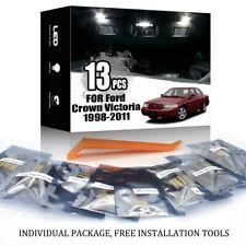 13x For Ford Crown Victoria 1998-2011 Car Interior LED Lighting Kit White + TOOL