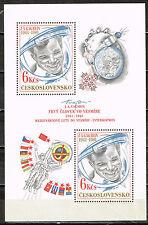 Czech Soviet First Man in Space Gagarin Flags Souvenir Sheet 1981 MNH