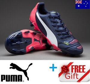 PUMA evoPOWER 4.2 FIRM GROUND JUNIOR FOOTBALL SOCCER BOOTS CLEATS + FREE GIFT