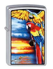 Zippo Mazzi Parrots Papagei auf Wunsch mit pers. Gravur 2003136 Neu