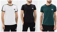 Kappa Mens  short sleeve T-Shirt Size S M L XL Green White Black
