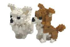 NEW NANOBLOCK 2 Chihuahuas Dog - Nano Block Micro-Sized Building Blocks NBC-259