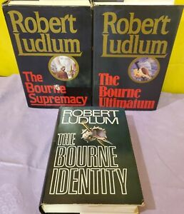 3 Robert Ludlum Bourne Trilogy Set Identity Supremacy Ultimatum Hardcover Books
