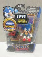 Sonic The Hedgehog Sonic & Moto Bag Figure New Rare