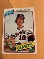 #434 Johnnie Lemaster San Francisco Giants 1980 Topps Baseball Card Cb20