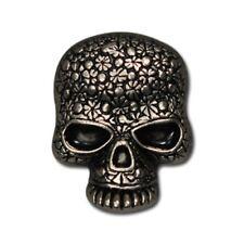 "5510-RC 3/4""  Antique Nickel Sugar Skulls Decorative Rivet Conchos"