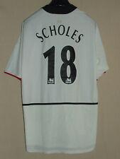 Soccer Jersey Trikot Camiseta Maillot Manchester United Scholes 18 Size XL