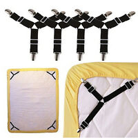Triangle Suspender Holder Bed Mattress Sheet Straps Clips Grippers Fasteners Ff