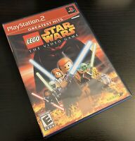 LEGO STAR WARS: THE VIDEO GAME (SONY PLAYSTATION 2, 2005, PS2) - FREE SHIPPING!
