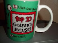 Top 10 Golfers Excuses Coffee Cup Mug Encore Papel Giftware