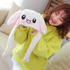Cute Bunny Plush Hat Funny Playtoy Ear Up Down Rabbit Hats Gift for Kids Girls