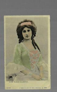 VINTAGE POSTCARD rp ENGLISH ACTRESS MISS MARIE DAINTON  S Hildesheimer LONDON