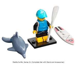 Lego Paddle Surfer, Series 21 (Complete Set with Stand and Accessories)