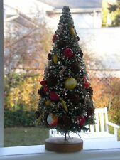 "Vintage Napco? Holt Howard? 10"" Japan Bottle Brush Christmas Tree Pinecone Fruit"
