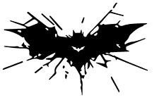 Vinyl Decal Truck Car Sticker Laptop Window DC Comics Batman Breaking Glass Logo