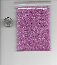 Large Lot of Size 12 Pink AB Glass Seed Beads 50 grams .06 Jewelry Making Loom