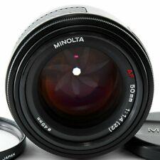 Minolta AF 50mm f/1.4 AF RS Lens Filter&Front cap From Japan