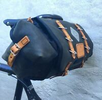 Carradice Barley Cotton & Leather 9l Saddlebag black or green TOUR commute AUDAX
