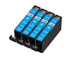 4 Compatibles CLI-526C Cian Cartuchos De Tinta para Canon Pixma Impresoras