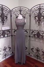 SR518 DESSY COLLECTION 2945GY CHARCOAL GRAY SZ 10 $310 BRIDESMAID FORMAL DRESS