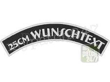 Rückenpatch Aufnäher TopRocker Bogen oben Wunschtext Biker Rocker Kutte MC 25cm