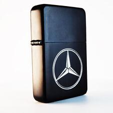 More details for brand new - designed brushed styled cigarette petrol lighter - mercedes