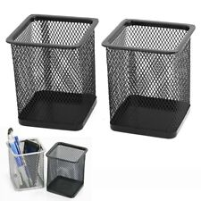 2pcs Metal Mesh Case Container Organizer Box for Home Office Pen Pencil Holder