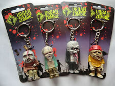 4x URBAN ZOMBIE KEYCHAINS - Apocalypse Key Chains Key Rings - Bulk Wholesale NEW