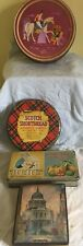 4 x  vintage  biscuit confectionary tins rowntrees  etc lot 2