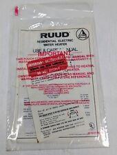 Ruud Residential Electric Water Heater Brochure 1990
