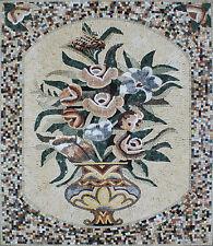 Vase Flower Full Color Marble Mosaic Fl770