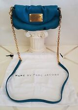Borsa Donna MARC BY MARC JACOBS WORKWEARE in pelle celeste ORIGINALE tracolla