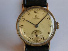 OMEGA-CASSA A CERNIERA-ANNO 1933-CAL.26.5 SOB T2-ORO 14 KT(0,585)-ANSE FISSE