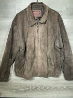 American Classics  Men's Colebrook Suede  Leather Bomber Jacket Size LG