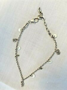 """SISSY Pink Glass Pearl Beaded Key Charm Anklet 10.5/"""" TV TG Gay CD"""